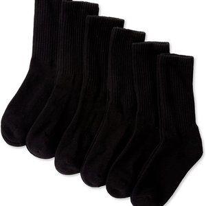Boys Seamless Sport Crew Half-Cushion Socks 6 Pack